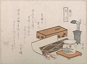 "Utensils for the Incense Ceremony, ""Incense Master"" (Kōgiki), from the series An Array of Artisans"