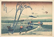 Ejiri in Suruga Province (Sunshū Ejiri), from the series Thirty-six Views of Mount Fuji (Fugaku sanjūrokkei)