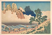 View from the Other Side of Fuji from the Minobu River (Minobugawa ura Fuji), from the series Thirty-six Views of Mount Fuji (Fugaku sanjūrokkei)