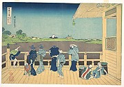 Sazai Hall at the Temple of the Five Hundred Arhats (Gohyaku Rakanji Sazaidō), from the series Thirty-six Views of Mount Fuji (Fugaku sanjūrokkei)