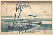 Ejiri in Suruga Province (Sunshū Ejiri), from the series Thirty-six Views of Mount Fuji (Fugaku sanjūrokkei)