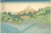 Reflection in Lake at Misaka in Kai Province (Kōshū Misaka suimen), from the series Thirty-six Views of Mount Fuji (Fugaku sanjūrokkei