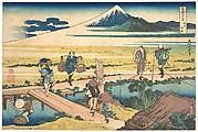 Nakahara in Sagami Province (Sōshū Nakahara), from the series Thirty-six Views of Mount Fuji (Fugaku sanjūrokkei)