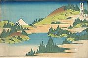 The Lake at Hakone in Sagami Province (Sōshū Hakone kosui), from the series Thirty-six Views of Mount Fuji (Fugaku sanjūrokkei)