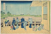 Sazai Hall at the Temple of the Five Hundred Arhats (Gohyaku Rakanji Sazaidō), from the series Thirty-six Views of Mount Fuji (Fugaku sanjūrokkei)