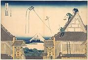 Mitsui Shop at Surugachō in Edo (Edo Surugachō Mitsui mise ryaku zu), from the series Thirty-six Views of Mount Fuji (Fugaku sanjūrokkei)