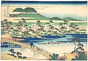Togetsu Bridge at Arashiyama in Yamashiro, from the series Remarkable Views of Bridges in Various Provinces (Shokoku meikyō kiran)
