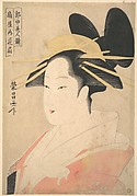 Large Head and Bust Portrait of the Oiran Hanaogi of Ogiya.