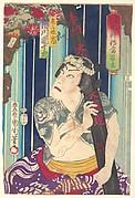 Imaginary portrait, Shuihuzhuan of Stage: Tōryūdai (Mitate Suikoden Tōrōdai) - Actor, Ichikawa Danjūrō plays as Sanjō