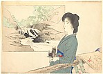 Woman and Mountain Palanquin