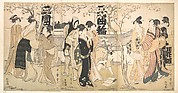 Visitors to Mimeguri Yashiro in the Time of the Cherry Blossoming