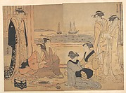 A Party of Merrymakers in a Tea-house at Shinagawa