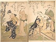 Group of Women Under a Blossoming Cherry Tree