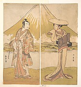 The Actor Nakamura Tomijuro as a Tall Woman in a Flat Straw Hat