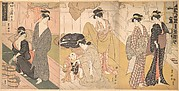 Women and an Infant Boy in a Public Bath House