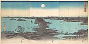 Panorama of the Eight Views of Kanasawa under a Full Moon