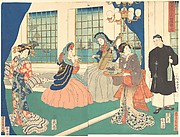 Yokohama Foreigners in the Sitting Room of a Merchant Ship