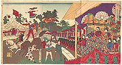 Illustration of the Imperial Excursion to see the Charini's Circus (Charine daikyokuba goyūran no zu)