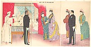 Illustration of the Empress Visiting a Field Hospital [in Hiroshima] (Yasen byōin gyōkō no zu)