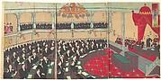 Illustration of The Imperial Assembly of the House of Peers (Teikoku gikai kizokuin no zu)