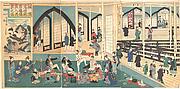 Foreigners Enjoying a Party at the Gankirō Tea House