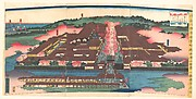 View of the Miyozaki Brothel District in Yokohama, Kanagawa (Kanagwa Yokohama Miyozaki machi yūjoya kōkei)