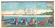 Illustration of a Large French Port Trading with Many Nations (Furansukoku oominato shokoku kōeki zu)