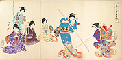 Ladies in Waiting of the Chiyoda Castle: Sword Practice and Puppet Kyōgen