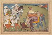 Maharaja Raj Singh in Procession with Members of His Court