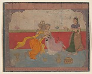 Krishna Kisses Radha: Page from the Boston Rasikapriya (Lover&#39;s Breviary)