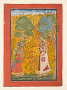 Vasanti Ragini, Wife of Hindol Raga; Folio from a Ragamala (Garland of Musical Modes) series