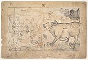 Durga Confronts the Buffalo Demon Mahisha: Scene from the Devi Mahatmya
