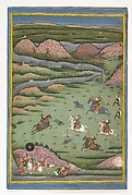 Maharana Amar Singh II or Sangram Singh Hunting Wild Boar