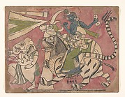 Ganesha Leads Shiva and Durga in Procession