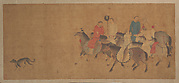 Horsemen with Dog
