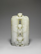 Double-cylinder vase with cover