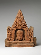 Antefix with Face of a Deity