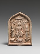 Votive Tablet with Buddhist Triad