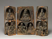 Portable Shrine with Buddhist Deities, Guardians and Donors