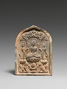 Plaque with Buddhist Triad