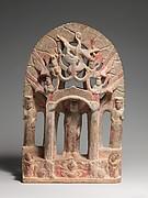 Votive Stele with Buddha and Bodhisattvas