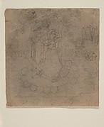 Krishna and Radha Standing on a Lotus