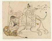 Maharao Shatru Sal II (1866–89) Hunting a Tiger