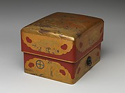 Box (Sumiaka tebako) with Design of Pine, Bamboo, and Plum