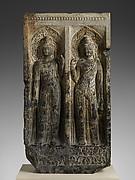 Stele with the Bodhisattvas Avalokiteshvara (Guanyin) and Mahasthamaprapta (Dashizi)