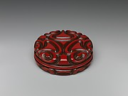 Incense Box with Pommel Scroll Design