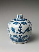Bottle with Pine and Character for Longevity (Shou)