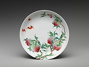 Dish with Peaches and Bats