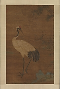 Crane in a Bamboo Grove