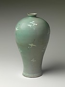 Vase in Meiping (Maebyeong) Shape with Cranes and Clouds